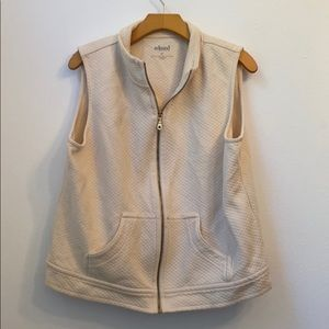 RELAXED By CHARTER CLUB Cream Vest Size XL